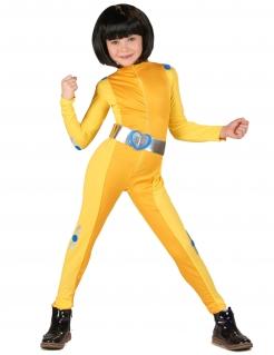 Spionage-Kostüm für Kinder Faschingskostüm gelb-silber