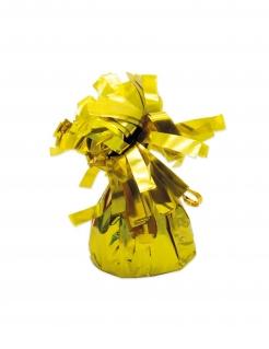 Luftballon-Gewichte mit Fransen Partydeko 6 Stück gold