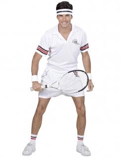 Tennis-Spieler-Kostüm Tennis-Outfit für Herren weiss-blau-rot