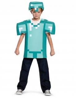 Minecraft™Kinderkostüm lizenziert blau-weiss