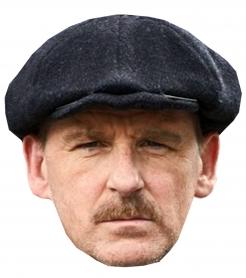 Gangster-Pappmaske für Herren TV-Serie Accessoire hautfarben-grau