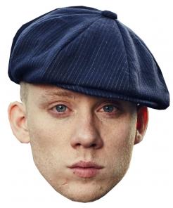 Gangster-Maske Pappmaske Fernsehserie hautfarben-blau