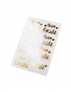 Klebe-Tattoo Team Bride Junggesellinnenabschied gold