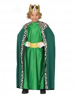 Sternsinger-Kostüm für Kinder Caspar-Kostüm Heilige-drei-Könige-Kostüm grün
