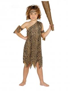 Höhlenmensch-Kostüm für Jungen braun-schwarz