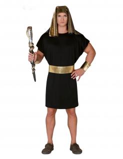 Pharao-Kostüm für Herren Faschingskostüm schwarz-gold
