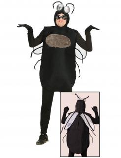 Fliegen-Kostüm für Herren Faschingskostüm schwarz