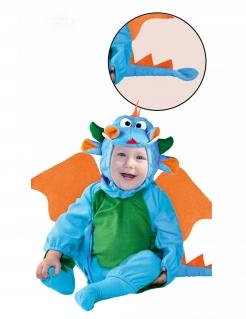 Drachenkostüm für Babys blau-grün-orangefarben