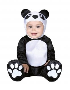 Niedliches Panda-Babykostüm schwarz-weiss