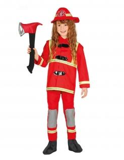 Mutiger Feuerwehrmann Kinderkostüm für Mädchen bunt