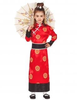 Asiatisches Kostüm für Mädchen Kimono bunt