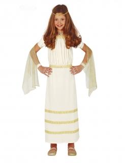 Römisches Kleid Antike-Kostüm für Mädchen weiss-gold
