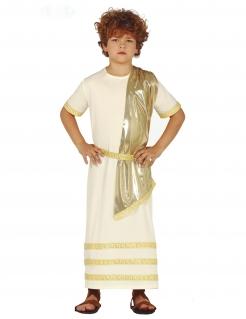 Vornehmer Römer Kinderkostüm für Jungen weiss-goldfarben