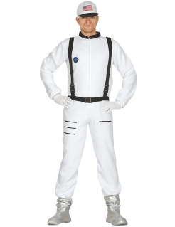 Astronaut-Kostüm Karneval-Kostüm weiss-schwarz