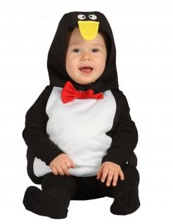 Kleiner Pinguin Babykostüm mit Kapuze bunt
