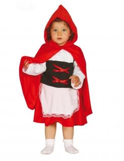 Rotkäppchen-Kostüm für Kleinkinder und Babys Kleinkinder-Karneval-Kostüm rot-schwarz-weiss