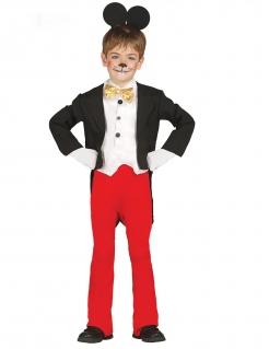 Berühmtes Maus-Kostüm für Jungen schwarz-weiss-rot