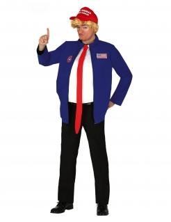 Präsidenten-Kostüm witziges Karnevalskostüm blau-weiss-rot