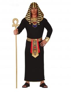 Pharao-Kostüm Antike-Kostüm für Herren schwarz-gold