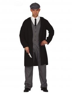 Gangster-Kostüm 20er-Jahre-Kostüm für Herren schwarz-grau