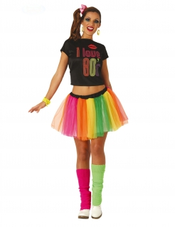 80er-Jahre-Kostüm Bad-Taste für Damen bunt