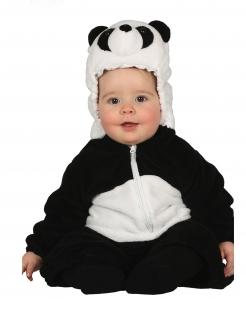 Panda-Kostüm für Babys und Kleinkinder Baby-Tier-Overall schwarz-weiss