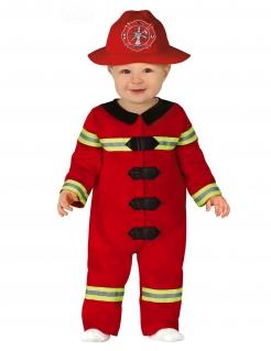 Feuerwehrmann-Kostüm für Babys und Kleinkinder Baby-Kostüm für Karneval rot-schwarz-gelb