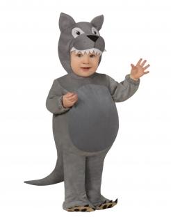 Wolfskostüm für Babys Tierkostüm für Karneval grau