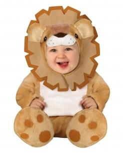 Baby-Kostüm Kleinkinder-Kostüm Löwen-Kostüm Löwenbaby Safari braun