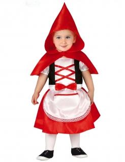 Rotkäppchen-Kostüm für Babys und Kleinkinder Baby-Karneval-Kostüm rot-schwarz-weiss