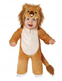 Löwen-Kostüm für Babys Babykostüm Faschingskostüm braun-beige