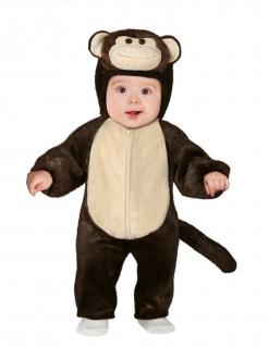 Süsses Baby-Kostüm Affen-Kostüm für Babys braun-beige