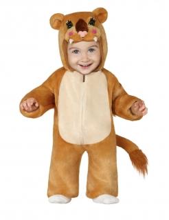 Niedliches Löwenkostüm für Babys braun