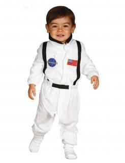 Astronaut-Kostüm für Kinder Kinder-Karneval-Kostüm weiss-schwarz