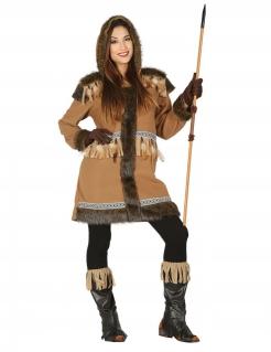 Eskimo-Kostüm für Damen braun