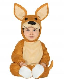 Känguru-Babykostüm Tier-Overall braun-beige