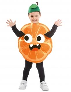 Kleine Orange Kinderkostüm für Karneval bunt