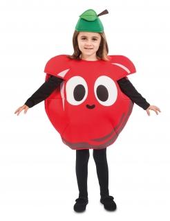 Fröhliches Apfelkostüm für Kinder bunt