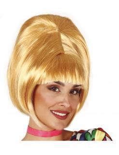 60er-Jahre-Perücke Bob-Perücke blond