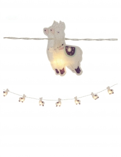 Lama-Lichterkette Partydeko 10 LEDs bunt 165 cm