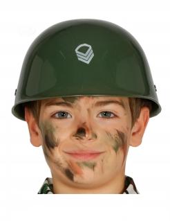 Soldaten-Helm für Kinder Militär Faschingsaccessoire grün