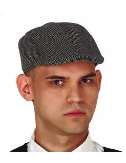 Detektiv-Mütze Flatcap für Herren Accessoire grau