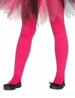 Blickdichte Strumpfhose für Mädchen Faschingsaccessoire pink