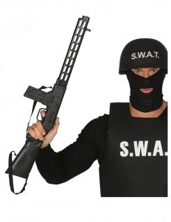 SWAT-Waffe Maschinengewehr Accessoire schwarz 69 cm