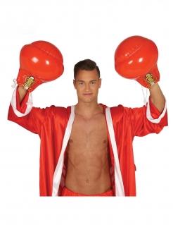 Aufblasbare Boxhandschuhe für Erwachsene rot-gelb-weiss