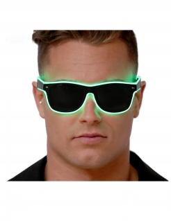 Leuchtende Brille für Erwachsene schwarz-grün