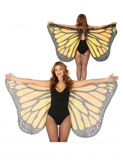Wunderschöne Schmetterlingsflügel für Erwachsene orange-schwarz-weiss