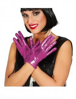 Elegante Damenhandschuhe 20er-Jahre Kostümzubehör rosa