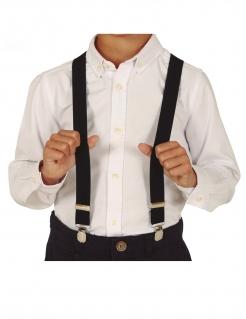 Hosenträger für Kinder 20er-Accessoire Fasching schwarz