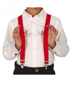 Hosenträger für Kinder Clown-Accessoire Fasching rot